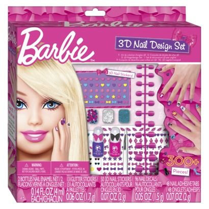 I know I am a grown woman, but how cool is this Barbie 3D Nail Art Set! #want #beautyDesign Sets, 3D Nails Art, Nails Dryer, 3D Nails Design, 3D Nail Designs, Barbie Nails, Pink Nails, Barbie Ultimate Nails, Barbie 3D