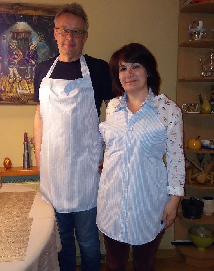fartuchy kuchenny z koszuli