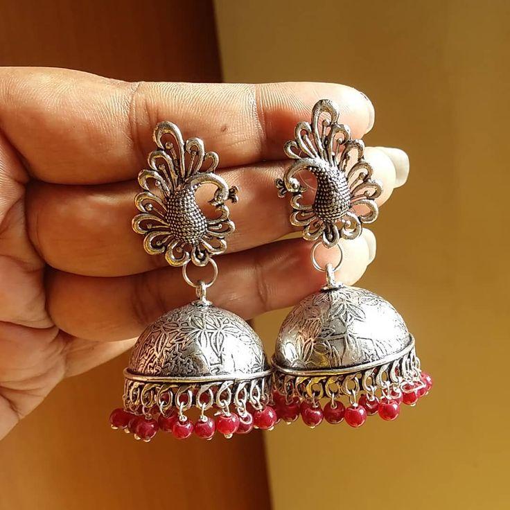 Jumbo red beaded peacock jhumka Rs.299  shipping  #laclassebysri #mumbai #bengaluru #bangalore #hyderabad #pune #kolkata #chennai #ahmedabad #jaipur #surat #chandigarh #visakhapatnam #indore #kochi #lucknow #newdelhi #noida #madurai #bhopal #vadodara #nagpur #coimbatore #kanpur #rajkot #ludhiana #bhubeneswar #thiruvananthapuram #earrings