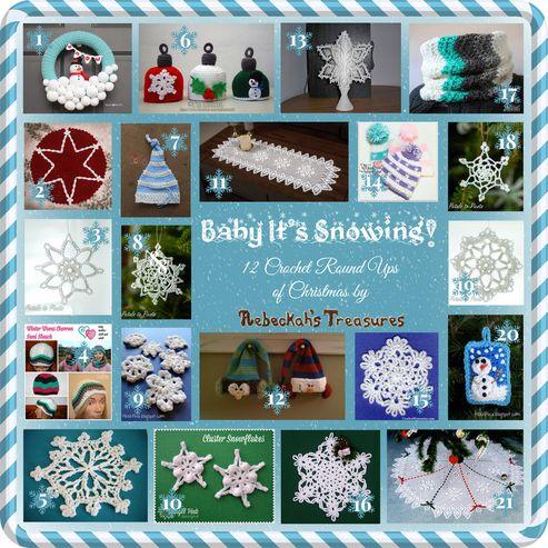 Baby It's Snowing - 12 Crochet Round Ups of Christmas via @beckastreasures