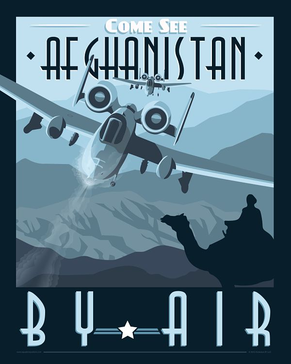 A-10 Warthog poster - Afghanistan