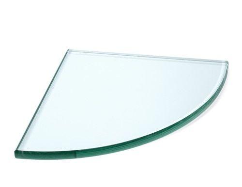 Shower Clear Glass Corner Shelf - Recessed Mount