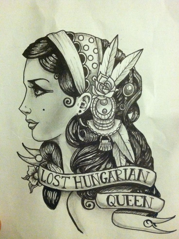 Gypsy Girl Tattoo Drawing | ... art drawings people 2012 2015 plunderedpsyche a quick gypsy girl piece