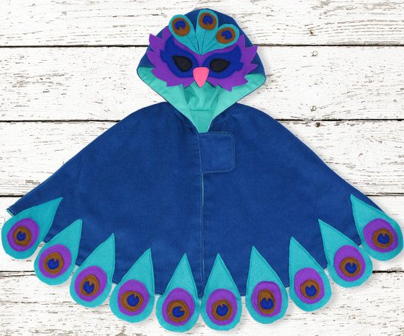 Halloween Childrens Girls Cape costume sewing pattern, PDF, Instant Download, The Maisie Cape with bonus Peacock
