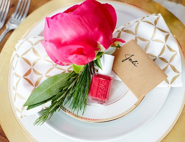 """Play the name game to add a thoughtful touch to your table. Ferreira recommends using """"place cards so all your guests can mingle and get to know each other better."""""""