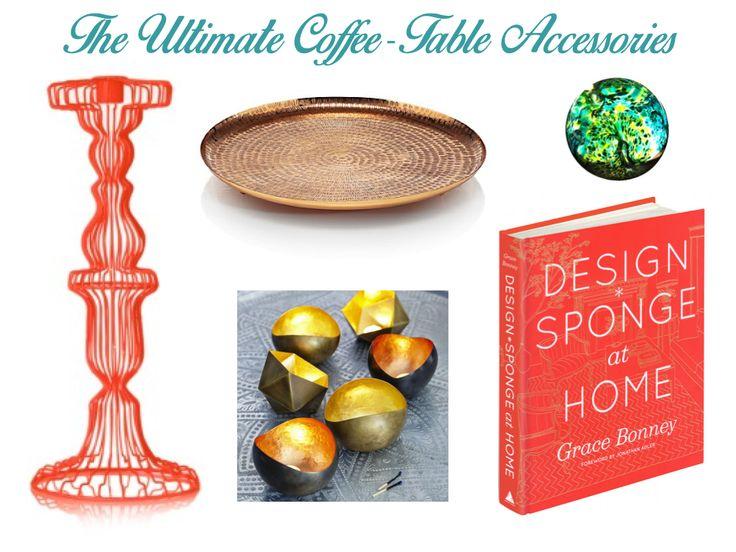 Coffee table accessories - mood board
