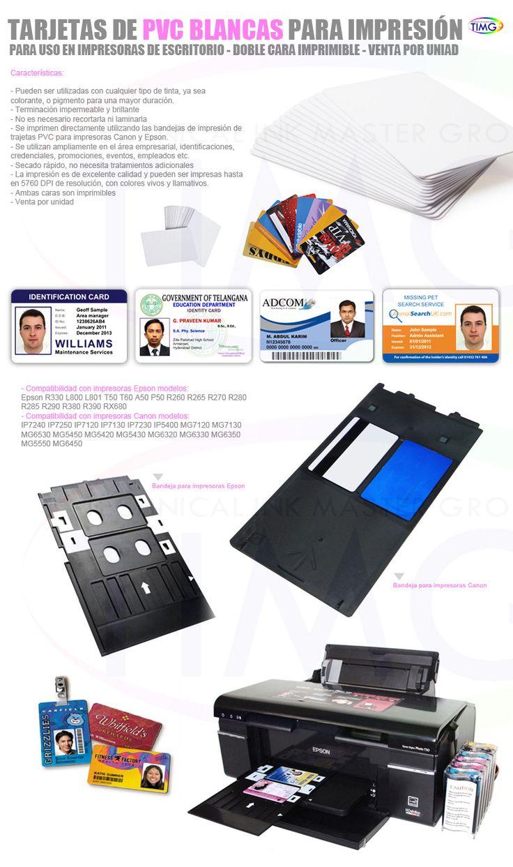 Tarjetas de PVC imprimibles y sublimables (170° - 45s) para impresiones de invitaciones, persentaciones y más - http://www.suministro.cl/product_p/4003020001.htm
