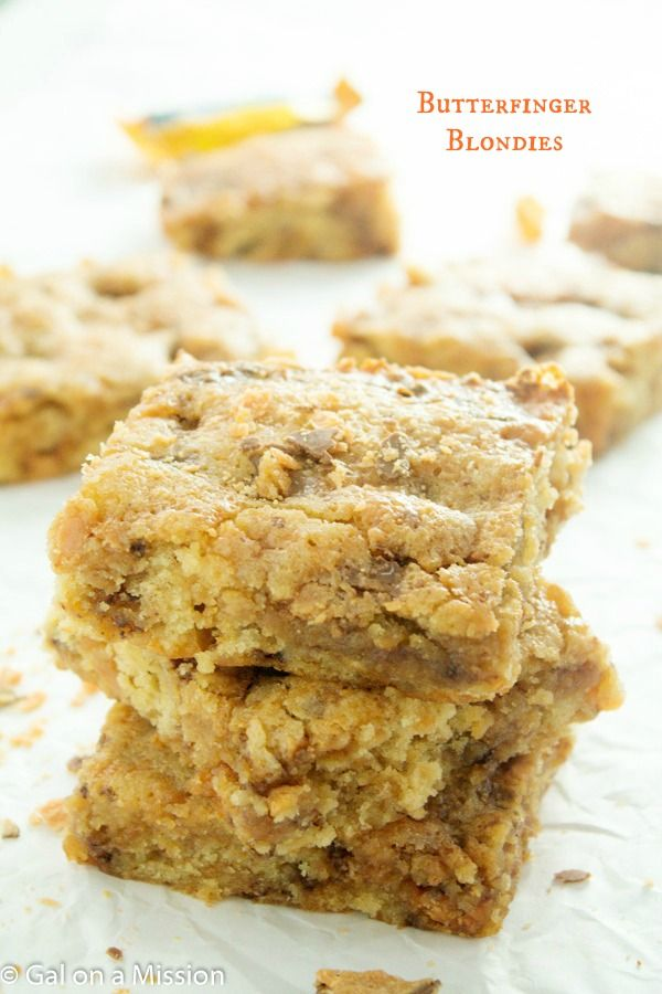 Peanut Butter Blondies - Gal on a Mission