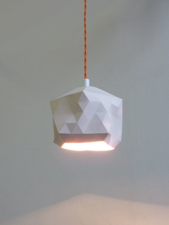 Faceted Globe Pendant Light by RawDezign on Etsy, £50.00