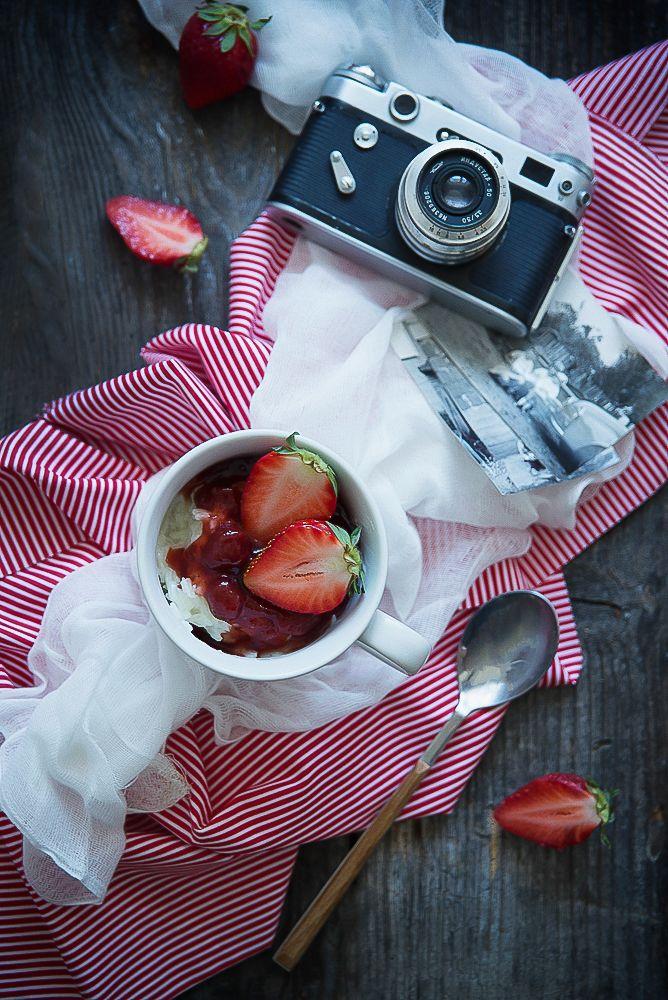 picante-jalapeno.blogspot.com: Pudding ryżowy z truskawkami