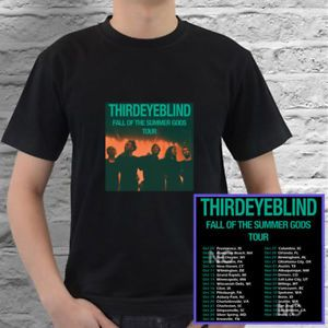 Third Eye Blind Fall of Summer Gods tour concert 2017 black tees; Tshirt 100% Cotton; Available Men's size S-3XL;