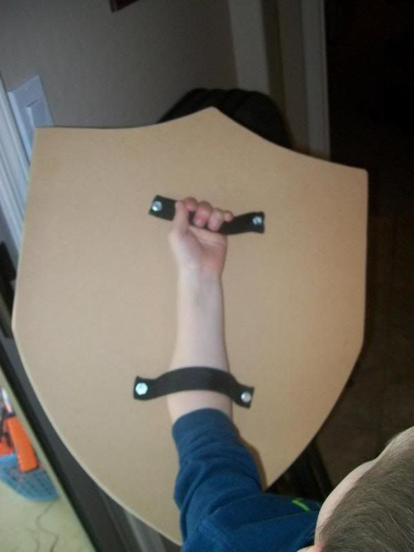 Homemade Wooden shield made after seeing shields at a local Renaissance festival