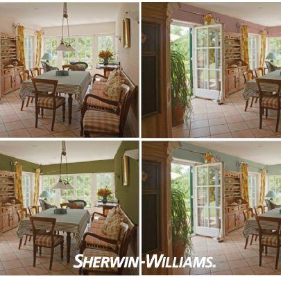 Estilo clásico inglés en tres tonos distintos con el Simulador de Color de Sherwin Williams.