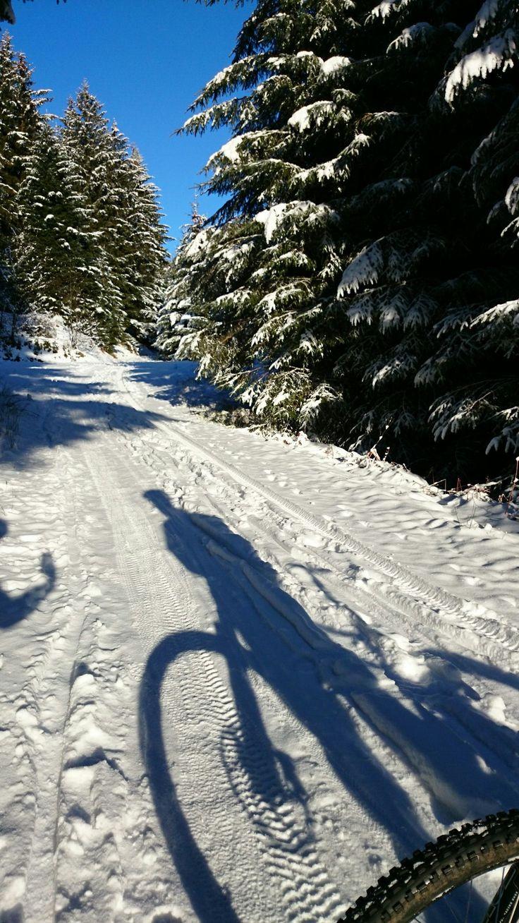 Snow fun with bike!