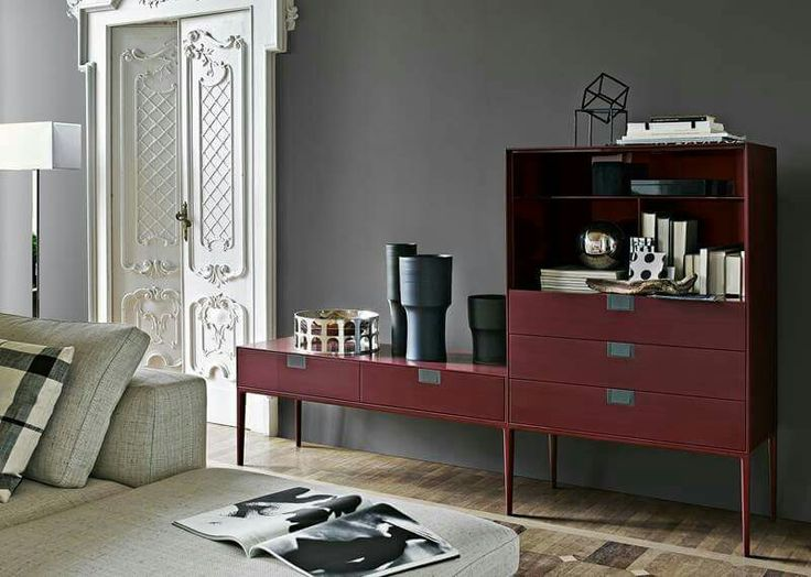 "FOCUS_ON: Lux collection Lux is the embodiment of a desire for new accents and unexpected results. As a result, wood with a special ""shellac"" finish for consoles and containers add a touch of glamour to their setting. > View collection: http://bit.ly/Lux_collection #maxalto #40years #happybday"
