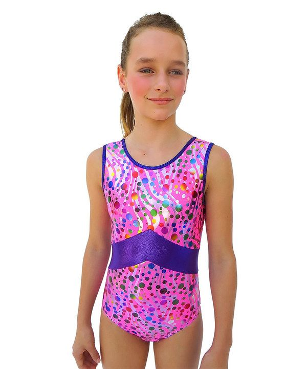 Emma totally loves this leotard!    Take a look at this Pink & Purple Party Time Taylor Leotard - Girls on zulily today!