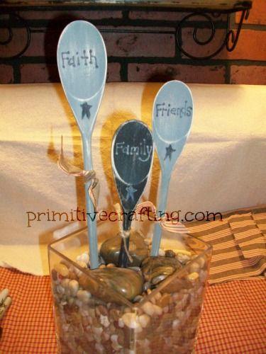 Primitive Wood Craft Spoon