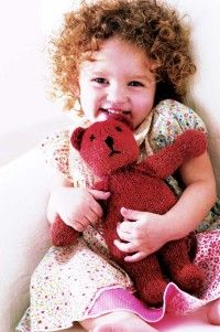 Learn to knit barnyard finger puppets, felted blocks, and a sweet teddy bear.