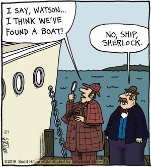 The Argyle Sweater Comic Strip, February 01, 2016 on GoComics.com