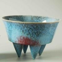 Marc Uzan - Bassin quadripode bleu #ceramic
