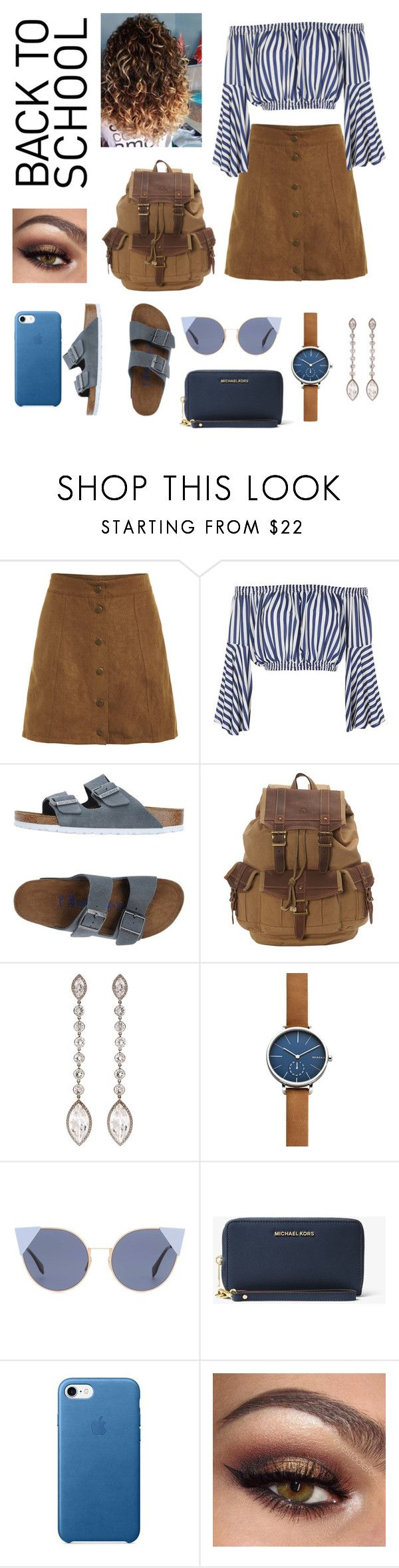 """Back to School! #backtoschool"" by cerny765 ❤ liked on Polyvore featuring Love, Birkenstock, TSD, SUSAN FOSTER, Skagen, Fendi and MICHAEL Michael Kors"