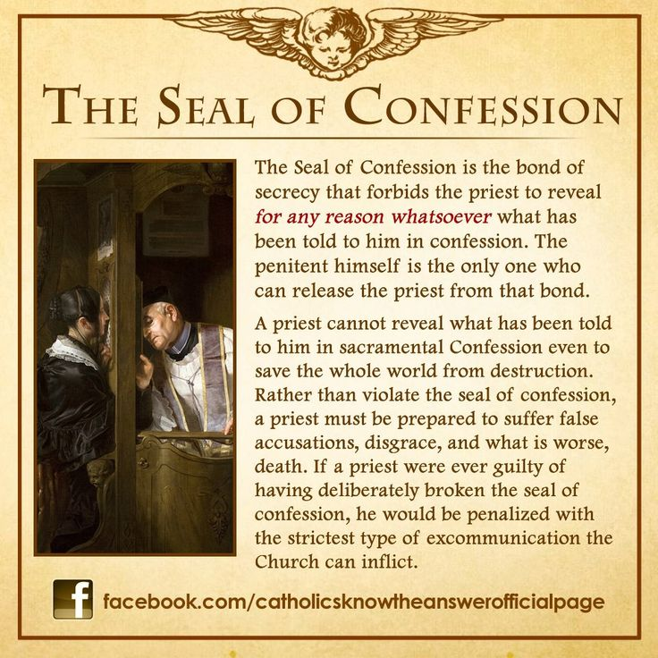 The Seal of Confession - unbreakable  click to follow........Site-Wide Activity | Awestruck.tv