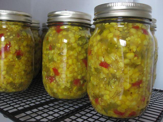 Pickled Corn Relish Recipe - Corn and Bell Pepper Relish Recipe