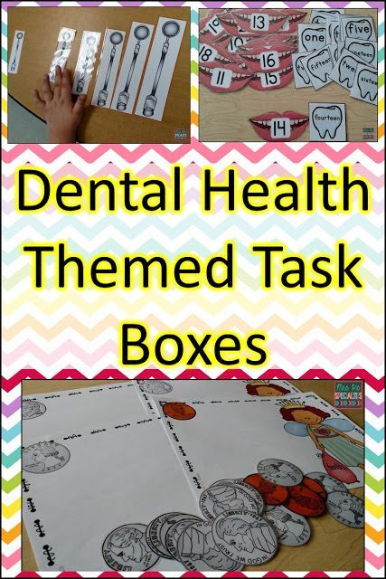 Dental Health Work Task Boxes: ideas and resources to use in February.