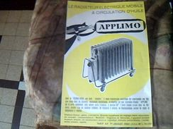 publicitee vieux papier radiateur mobile a circulation d huile APPLIMO ANNEE 50
