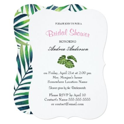 Modern Pink Tropical Floral Bridal Shower Card - bridesmaid gifts bridal bride wedding marriage
