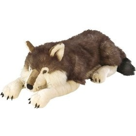 WOLF STUFFED ANIMAL <333