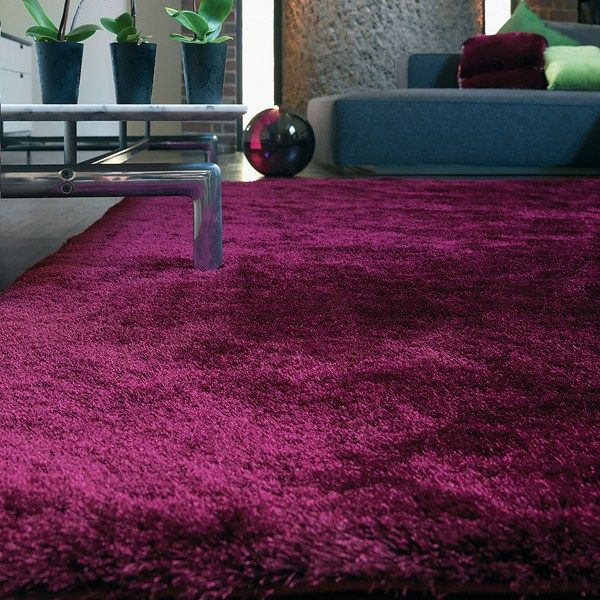 Whisper Shiney Shaggy Rugs In Plum Buy Online From The Rug Seller Uk Find This Pin And More On Purple Room Ideas
