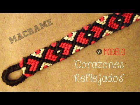 Tutoriel: faire un bracelet brésilien motif coeur (DIY friendship bracelet heart) - YouTube
