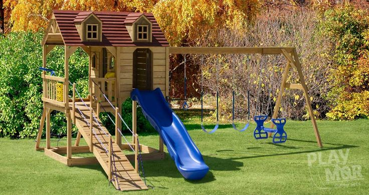 Wooden Playsets built in Ohio's Amish Country | Playmor Swing sets