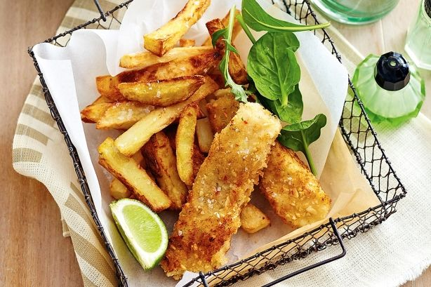 The classic kid's favourite has been given a healthy, low-fat make-over in this modern fish finger recipe.