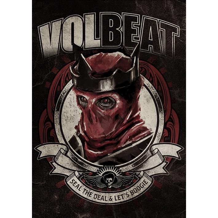 """Poster """"Red King"""" dei #Volbeat."""