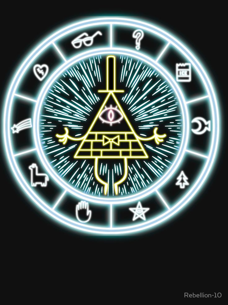 """Gravity Falls Bill Cipher Wheel"" T-Shirts & Hoodies by Rebellion-10 