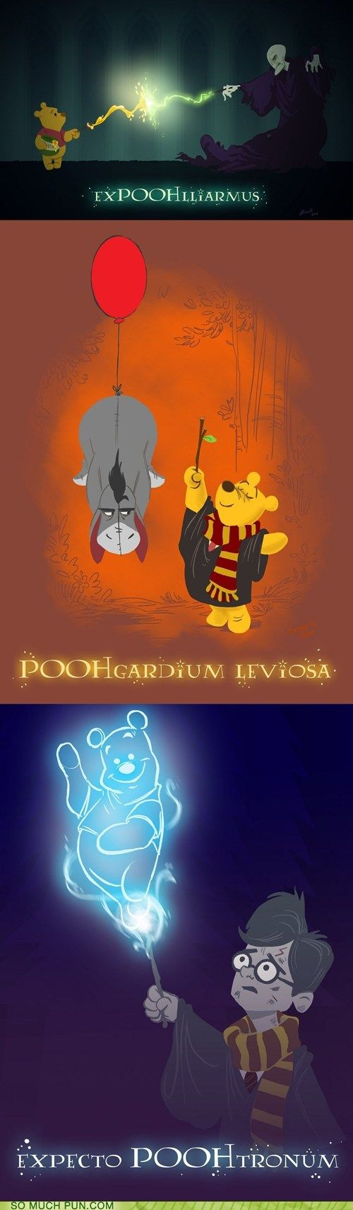 Harry Pooh-ter: Voldemort's come to steal Pooh's honey again!? Oh bother