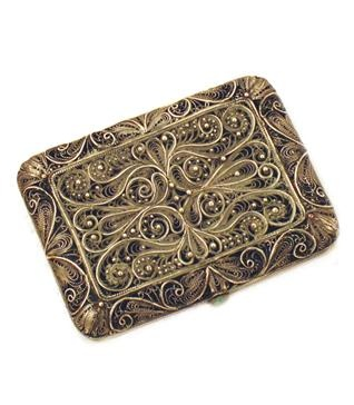ShopCurious - ShopCurious - Vintage filigree silver card holder/cigarette case. $135