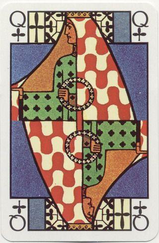 No. 2136 Jugendstil Art Nouveau * designed by Ditha Moser, Страна: Австрия, Издатель: PIATNIK, Издана: 1980, Размер колоды: 58×89 мм - poker playing cards, deck of cards, card deck, unique playing cards, art of play cards, design play cards, cool playing cards, cardistry, jugando a las cartas, karty do gry, игральные карты, карты