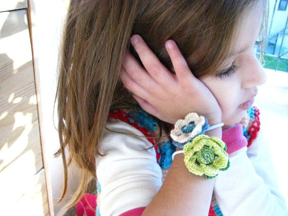 Bracelet  Ponytail Holder for girls  Swarovski by Chrisin on Etsy, €4.90