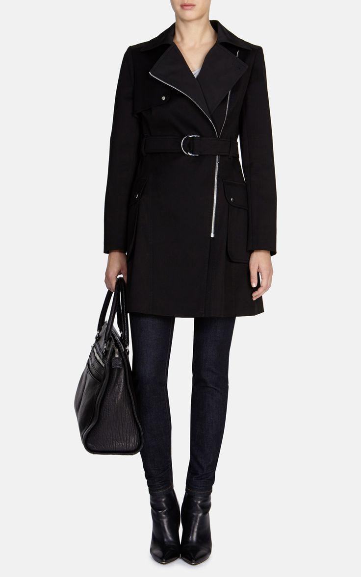 Zip fronted trench coat   Luxury Women's shop_all   Karen Millen