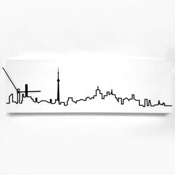 Toronto Skyline White