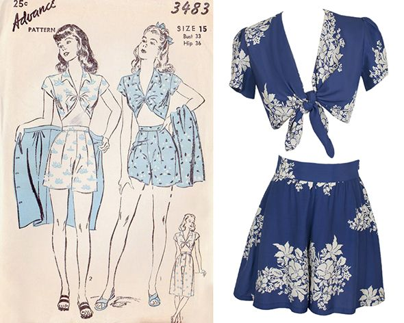 Swing by the blog to see Diva Elizabeth's vintage-inspired beach attire! Like the Carole Tie Top and High Waisted Shorts!