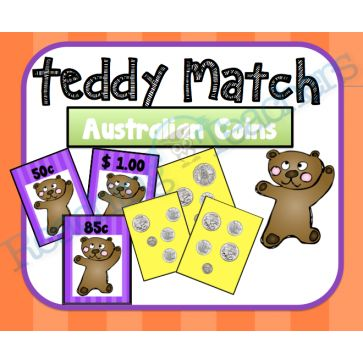 Teddy Match- AUSTRALIAN COINS (Up to $1)