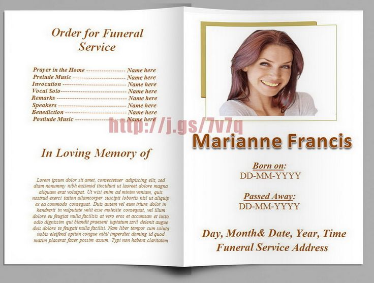 Mejores 79 imágenes de Funeral Program Templates for MS Word to - funeral programs templates free download