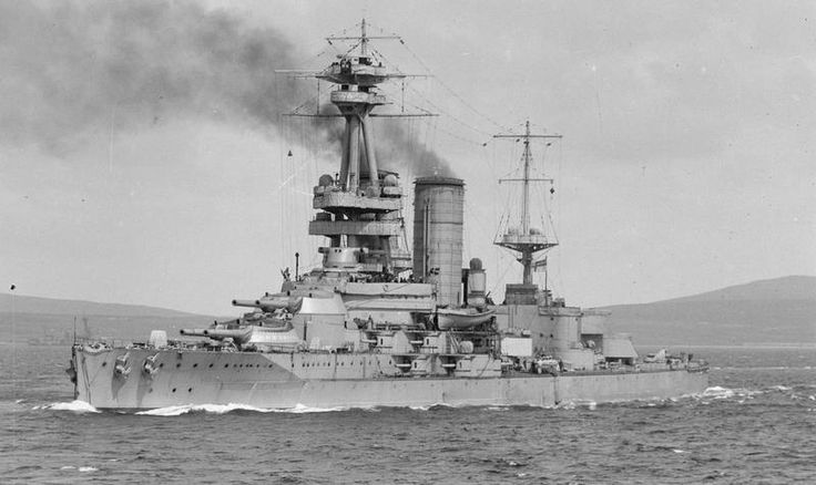 British battleship HMS Canada - a Chilean order taken over by the Royal Navy whilst under construction in 1915, she was the only 14 in gun ship in the fleet.  Returned to Chile after WW1 and renamed Admiral Latorre, she was not scrapped till 1959.