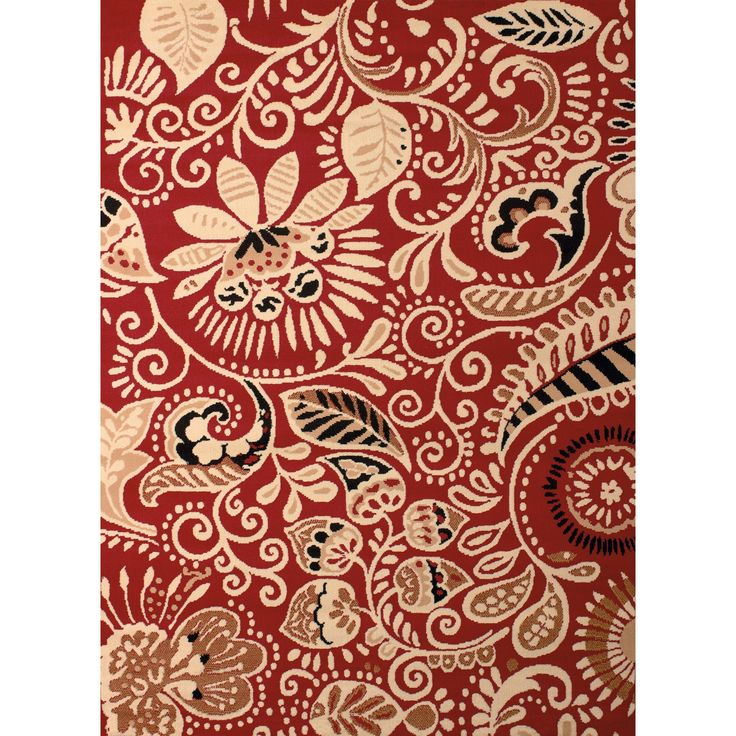 "Westfield Home Montclaire Ginger Red Area Rug - 7'10"" x 10'6"", Size 7'10"" x 10'6"""
