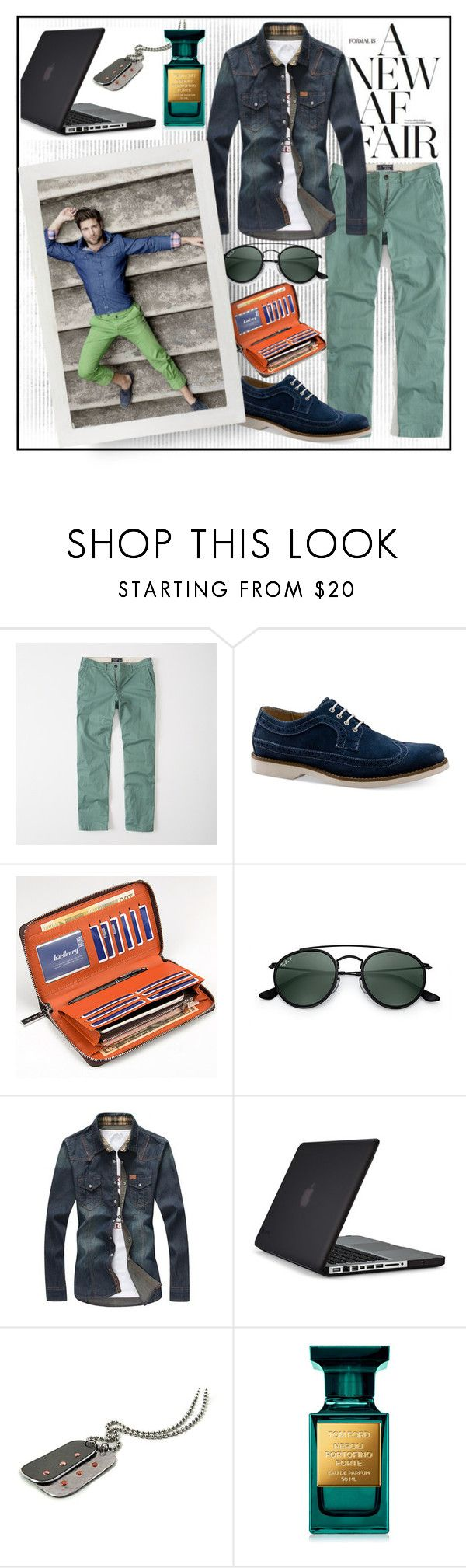 """""""A NEW AFFAIR!!!"""" by kskafida ❤ liked on Polyvore featuring Abercrombie & Fitch, G.H. Bass & Co., Ray-Ban, Speck, men's fashion and menswear"""