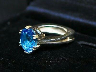 Swiss blue topaz ring steinerjewellery.com